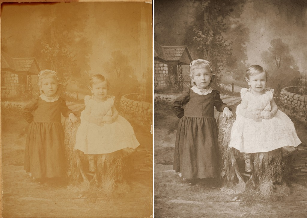 Faded photo for restoration