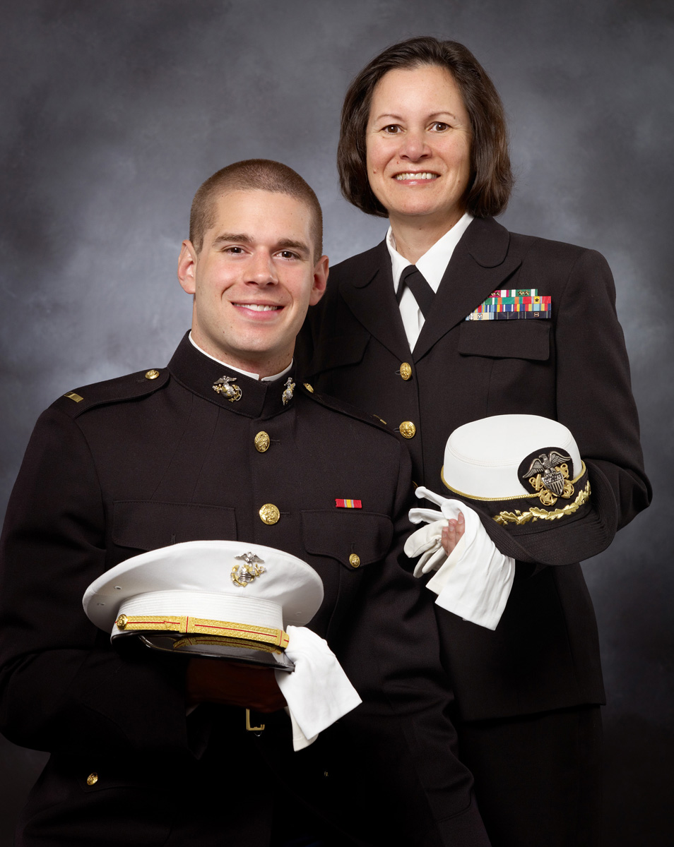 Mother & Son In Uniform