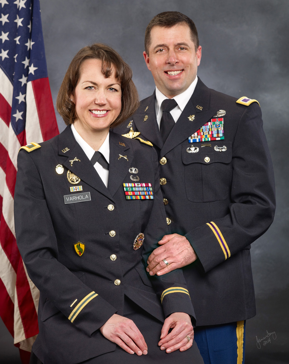 Portrait of Military Couple